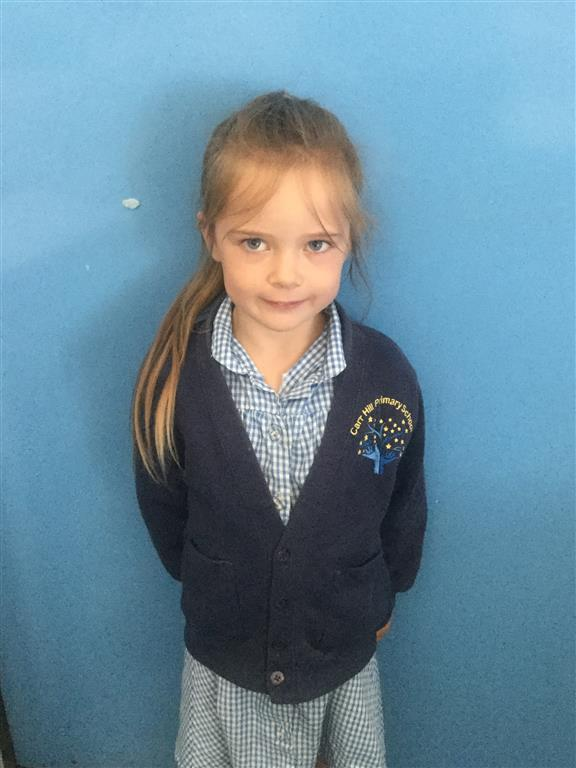 This week's English Star is Jasmine. She has been doing some fantastic Phonics work this week. Her use of sound buttons to help her decode and blend unknown words has been superb! -