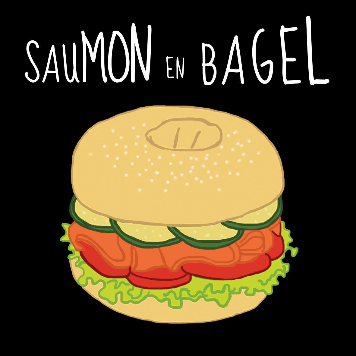 Saumon en bagel