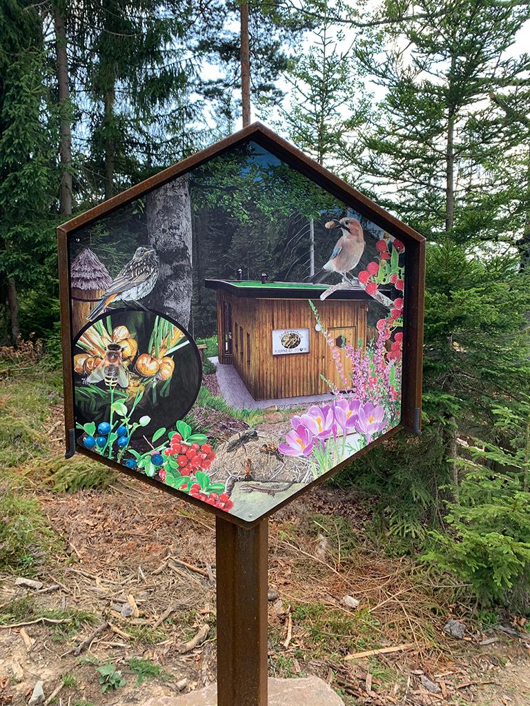 Bienenwald Gummer Schild Nr. 2