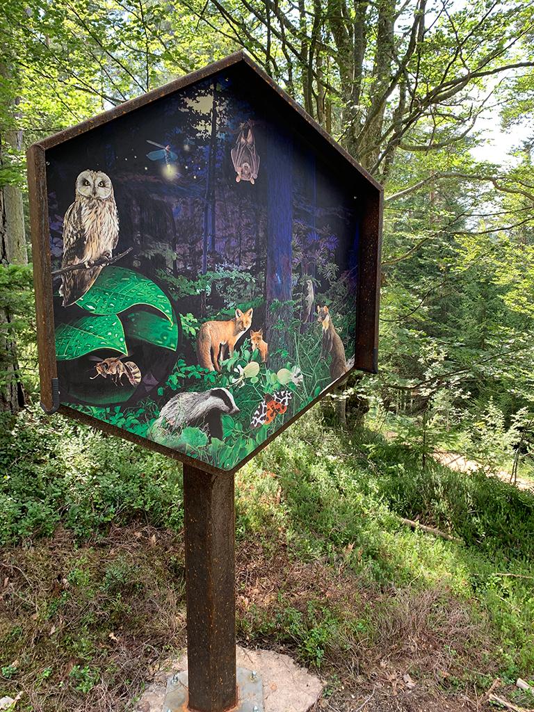 Bienenwald Gummer Schild Nr. 1