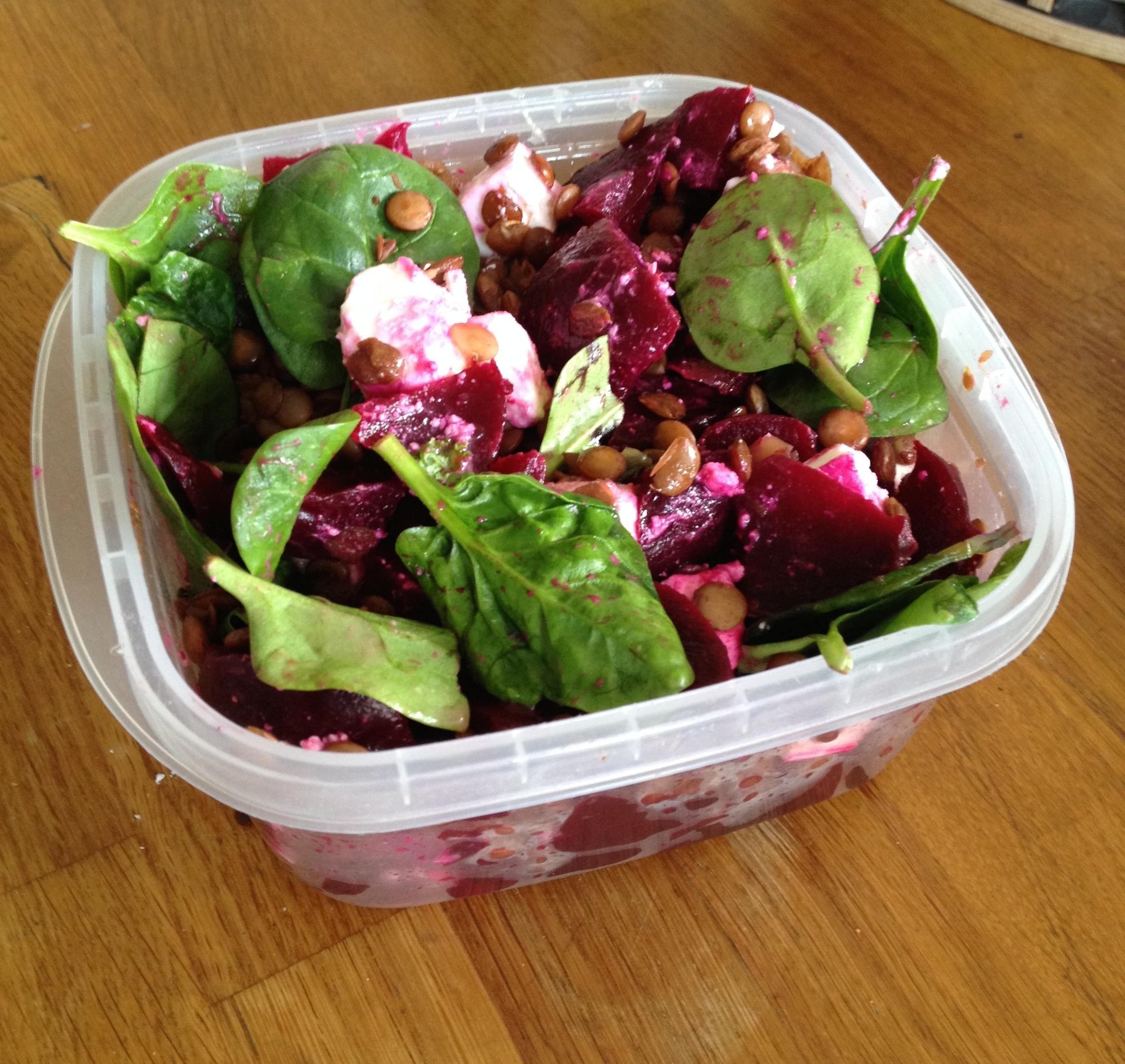 Beetroot Feta & Lentil salad