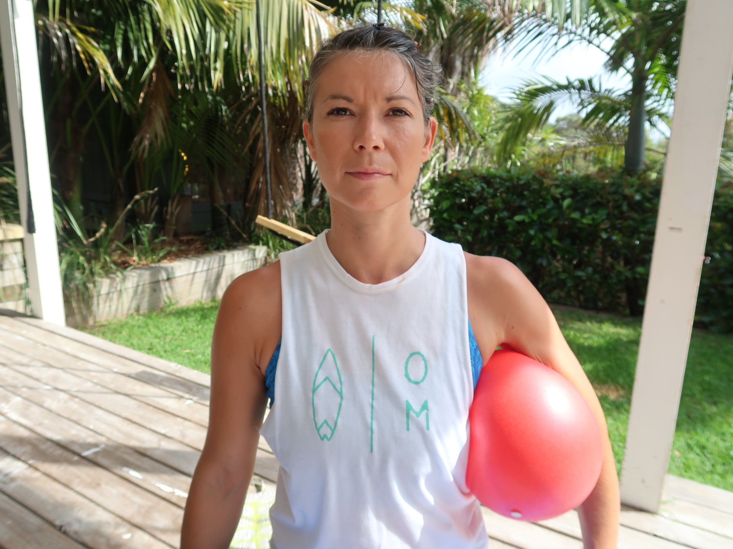 Ball Breathing for neutral serratus anterior