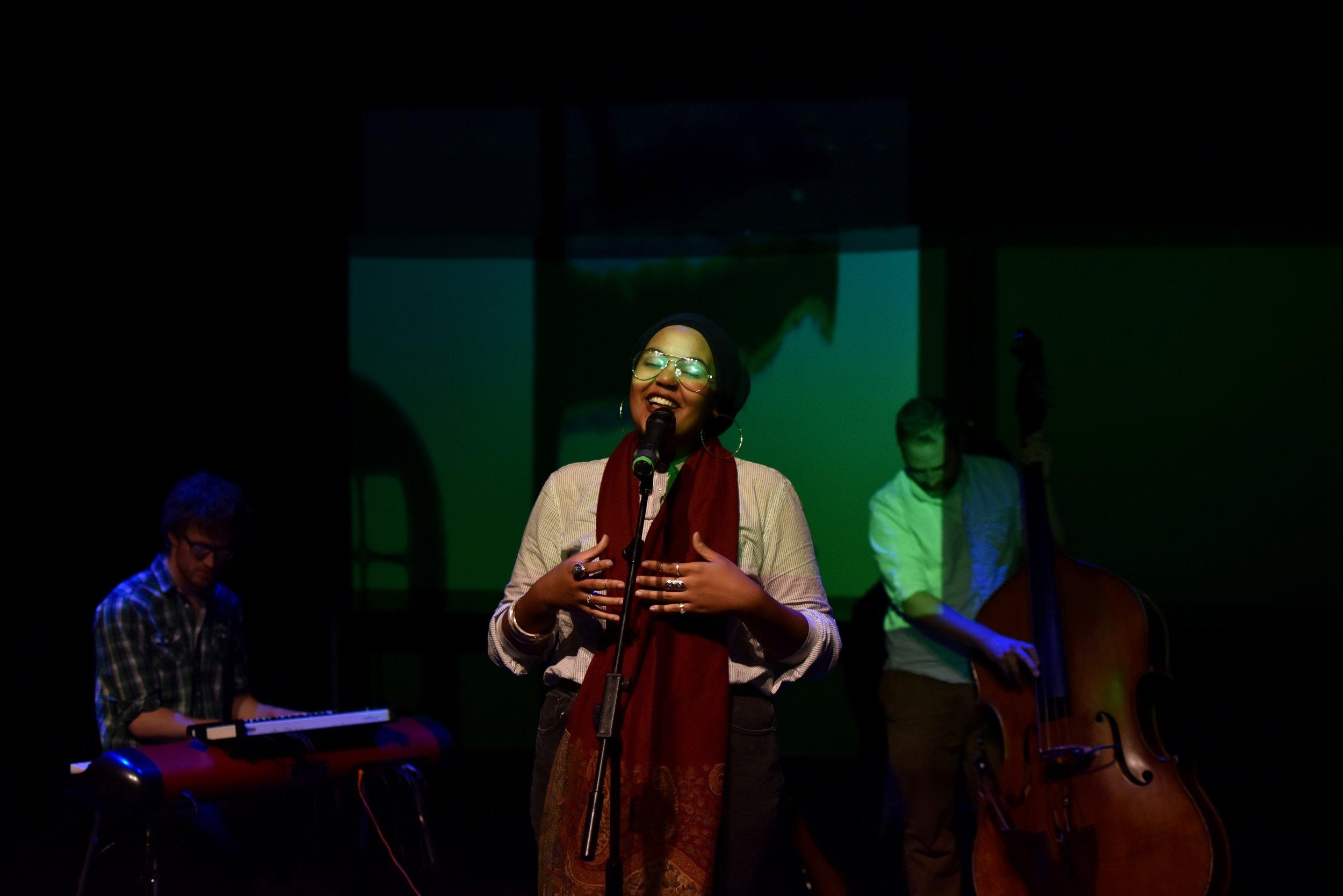 Aliyah Hasinah performing at  Level UP  Season 4