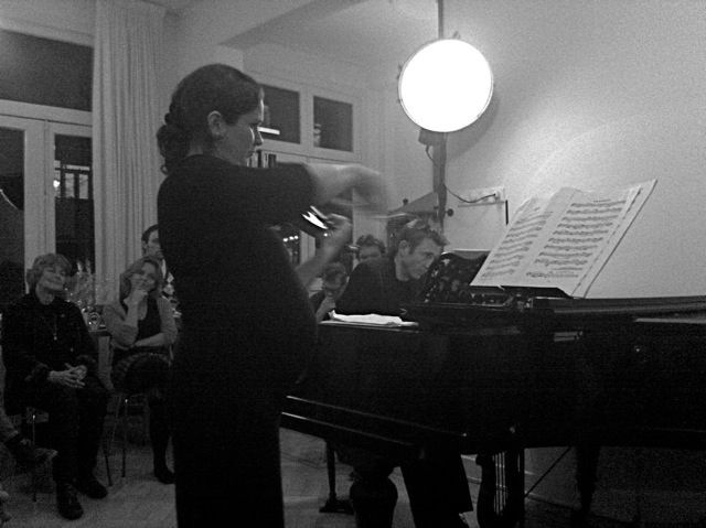 Huisconcert - Duo met pianist
