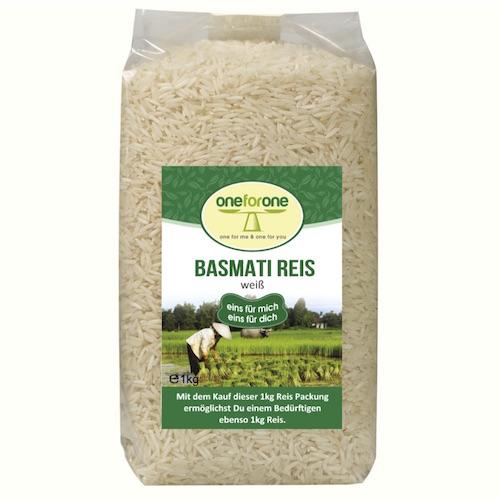 Bio Basmati Reis, weiss