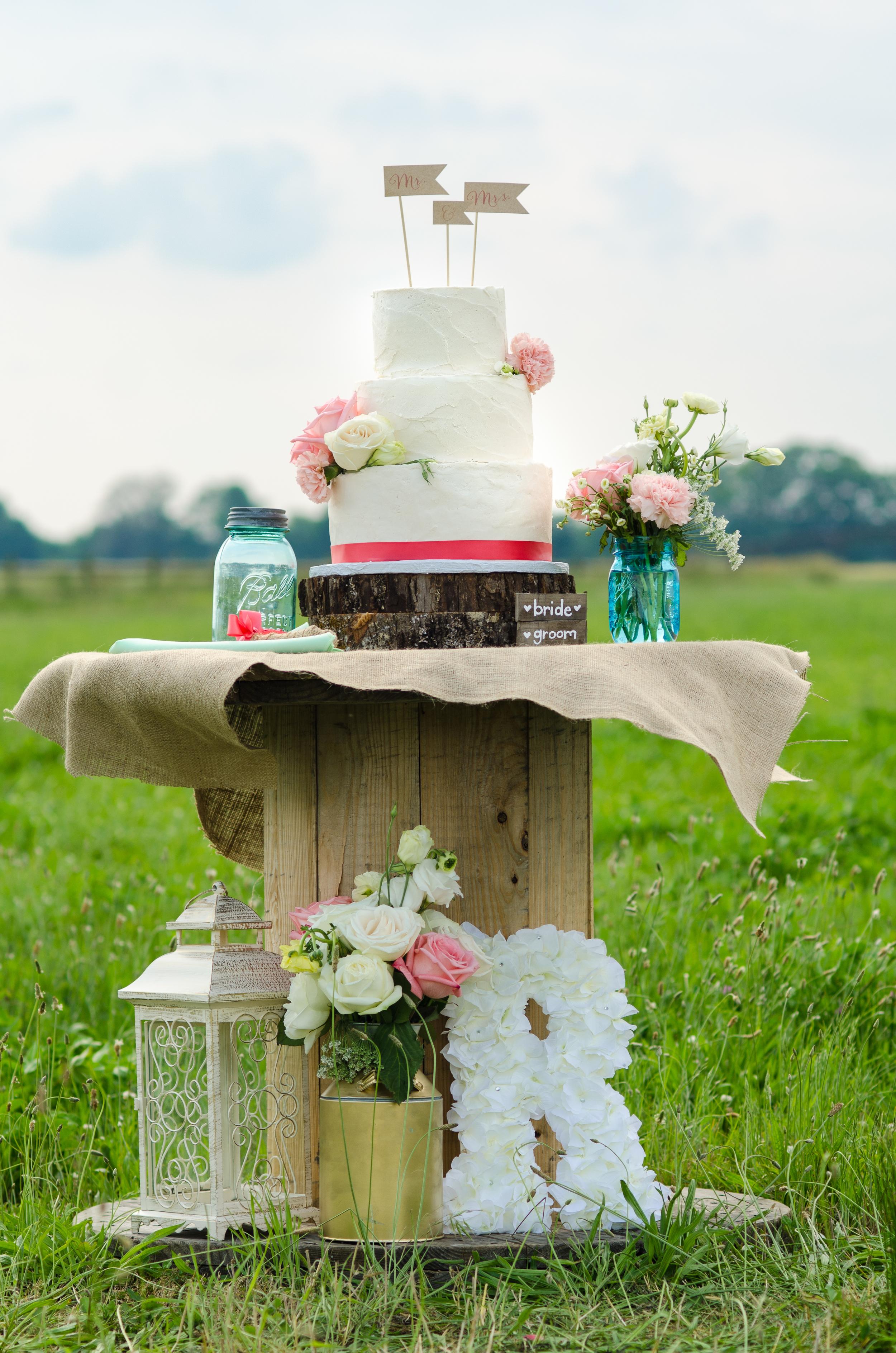 rustic wedding cake romantic farm wedding photographer