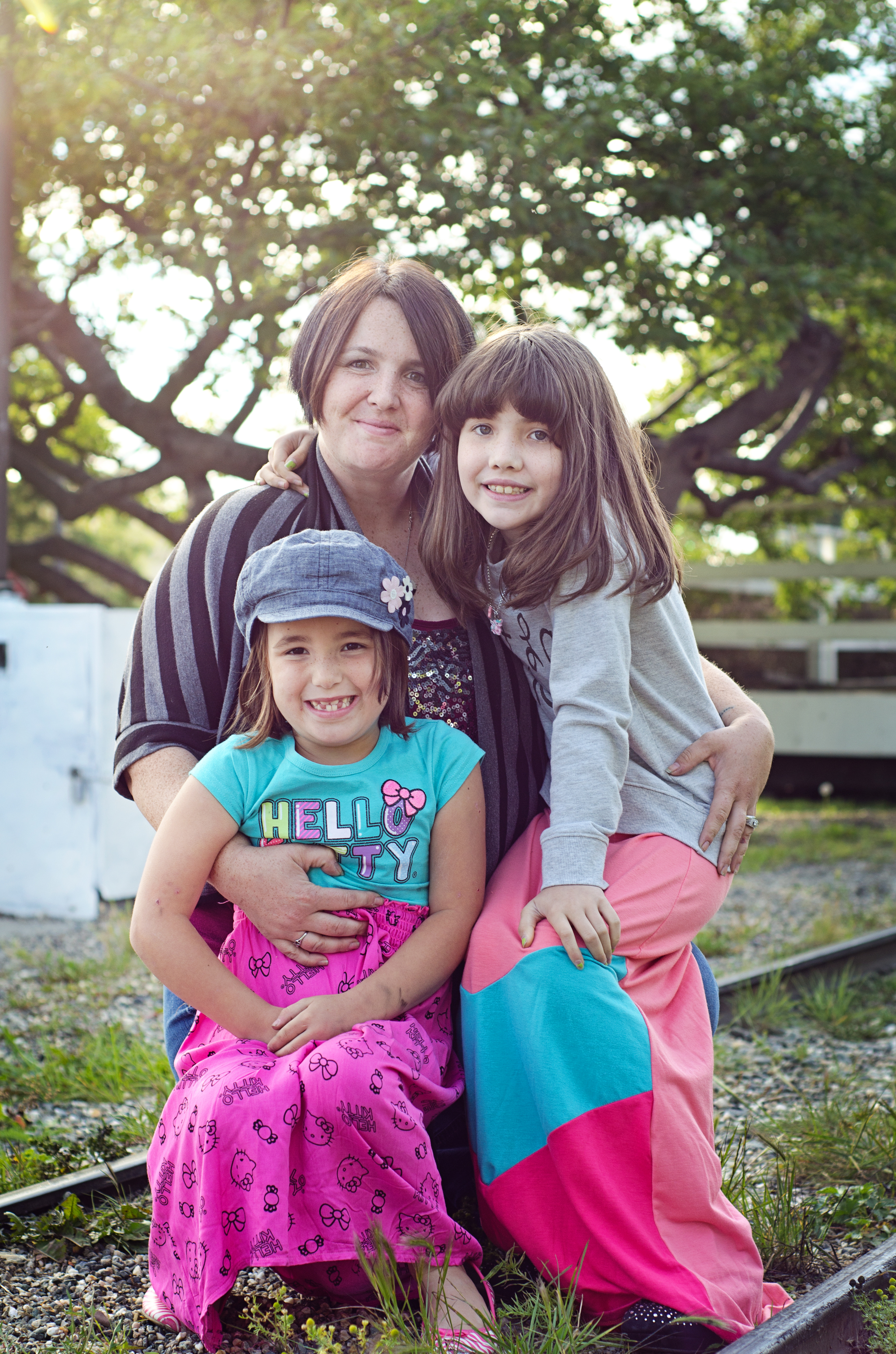mom and girls at park in fairbanks ak - family photographer