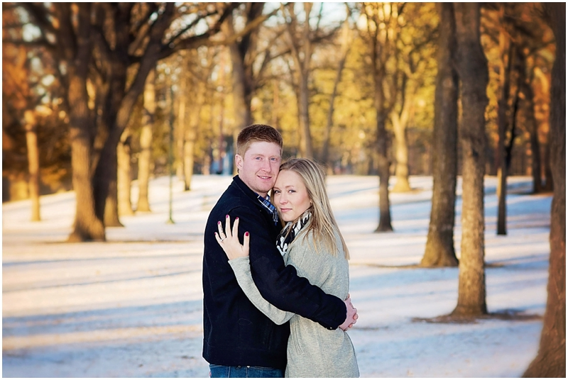 island park outdoor engagement photos fargo