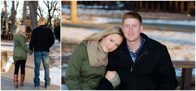 winter engagement photos fargo
