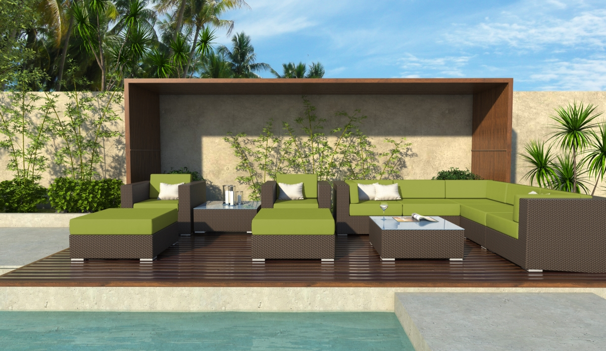 Victor 11 Piece Wicker Outdoor Sectional Sofa Set