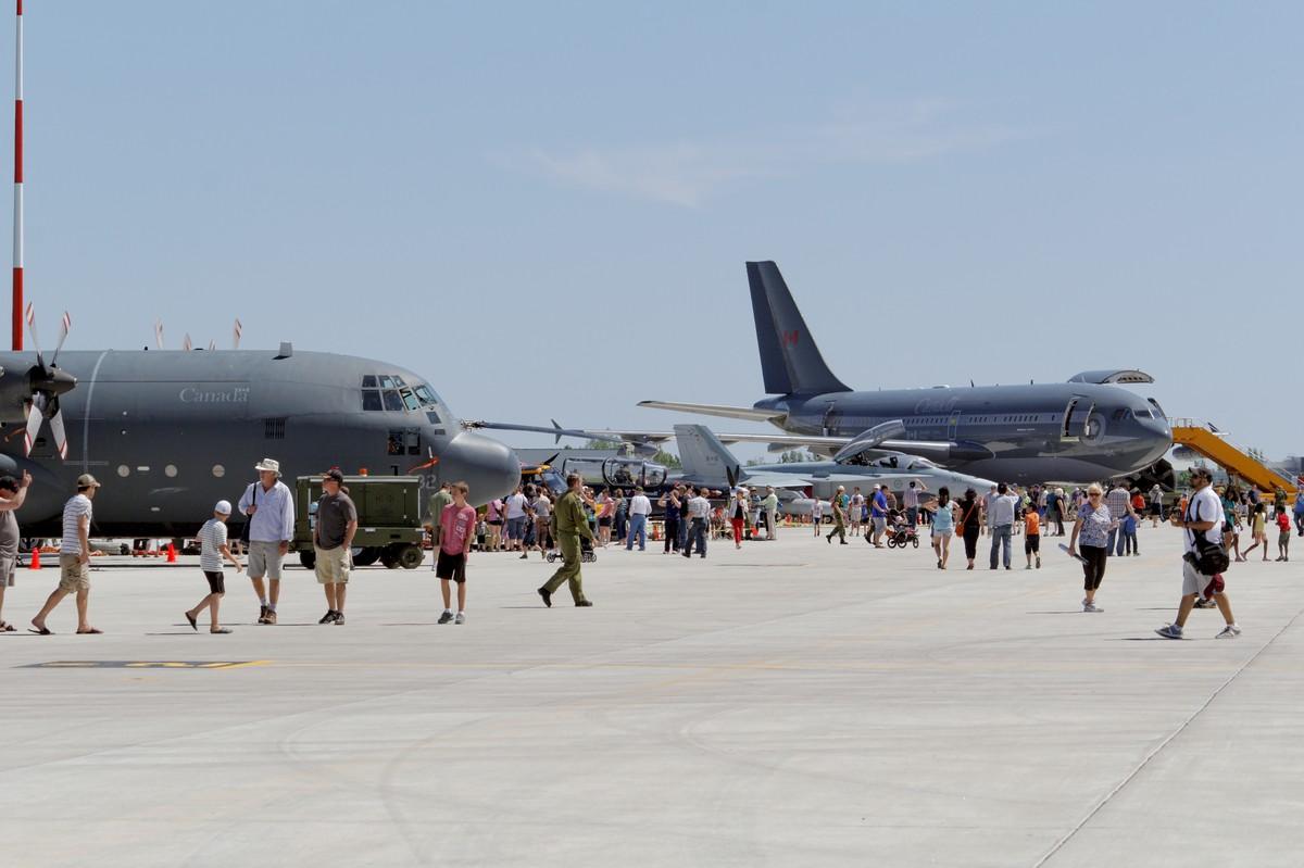 Hercules, Harvard II, CF-18 Hornet, and Polaris