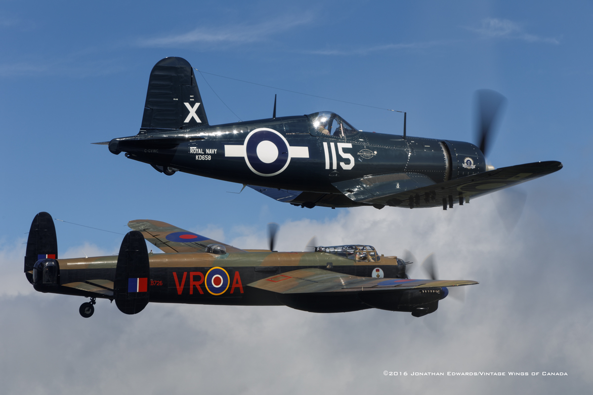 Corsair and Lancaster