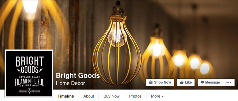 Bright goods social media imagery