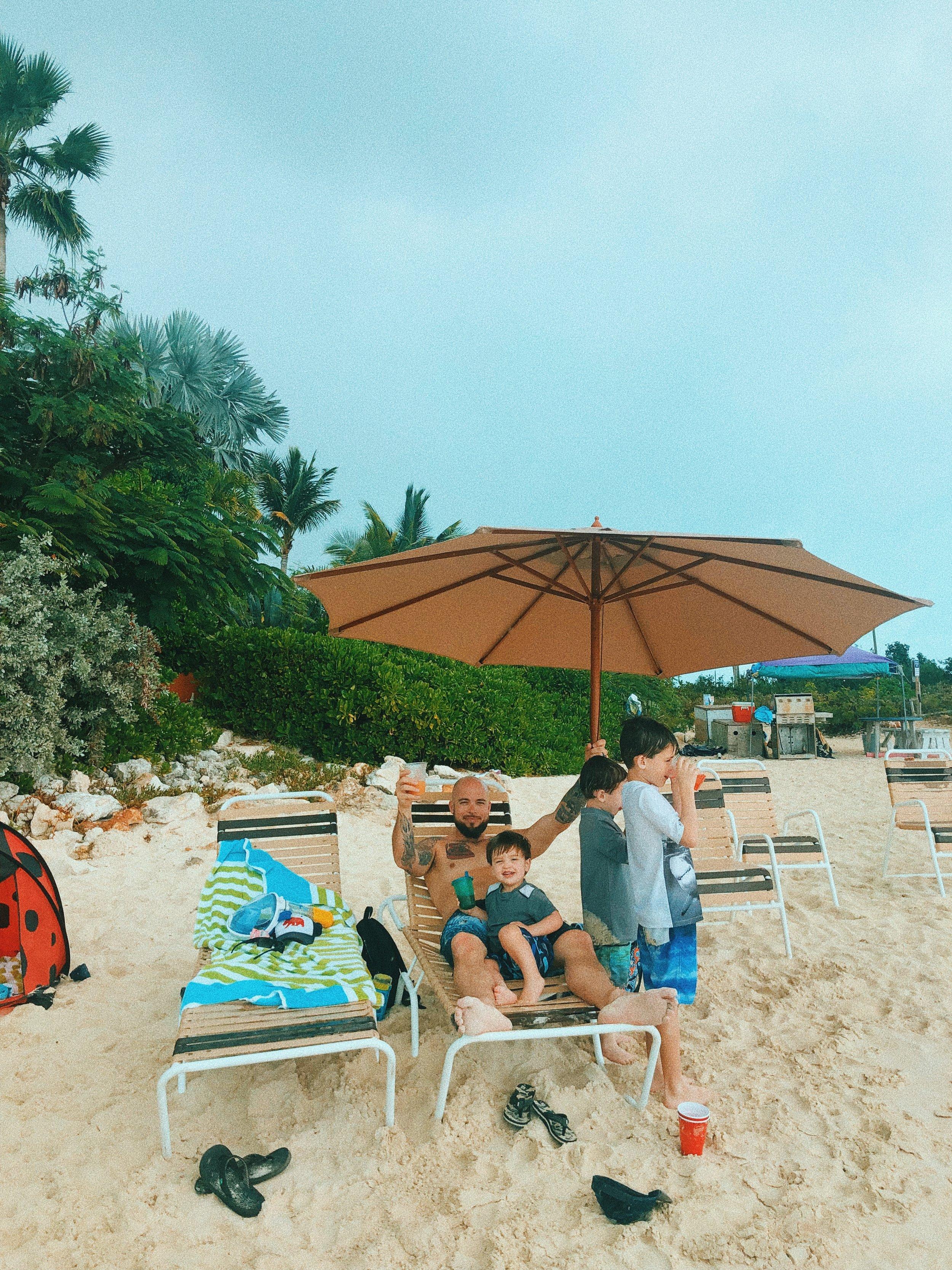 beach chairs at sapodilla bay