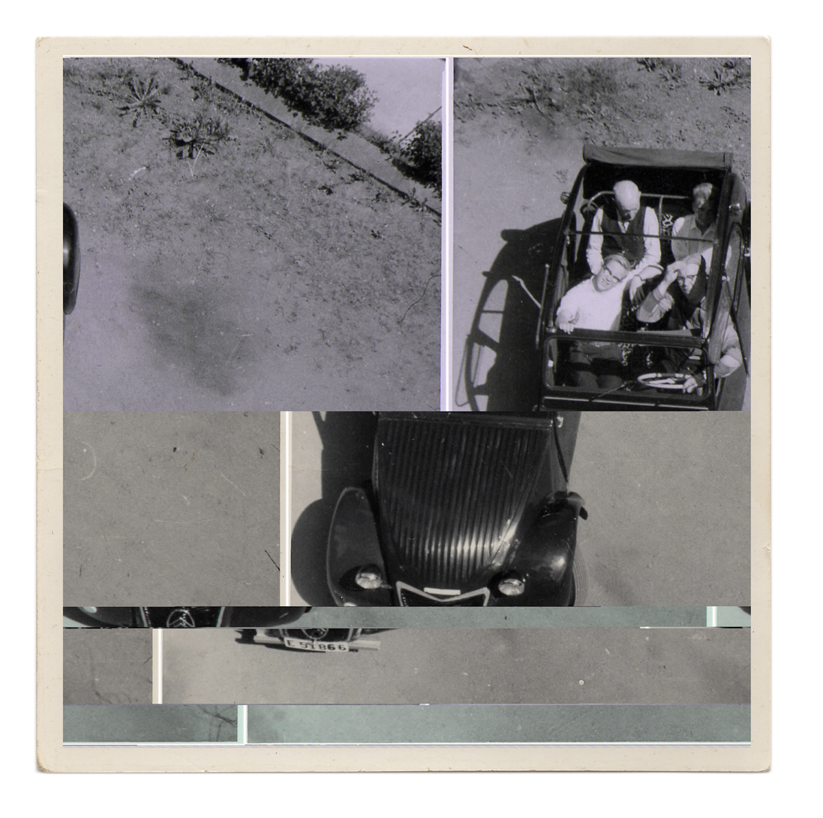 Untitled (family in car from above), 2013.
