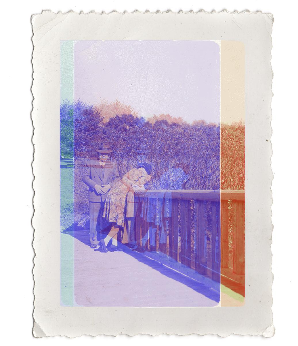Untitled (couple on railing), 2013.