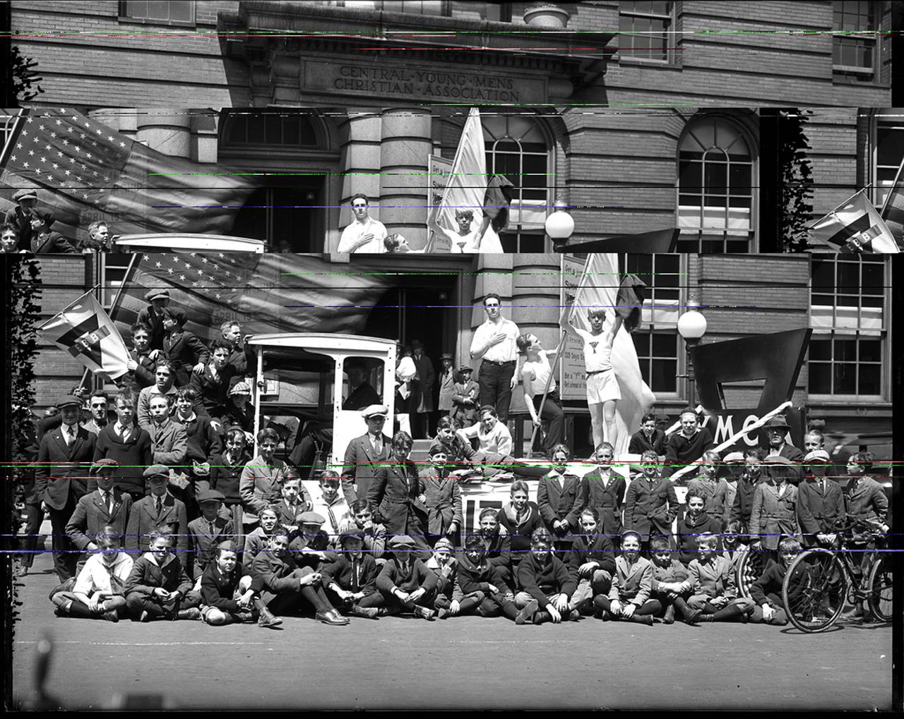 Hughes Remix Series, Untitled (parade men), 2013.