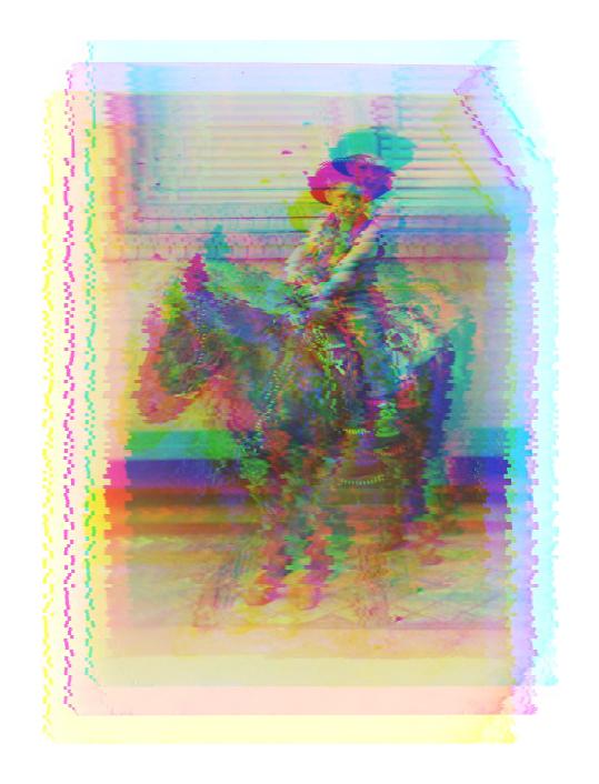 Untitled (cowboy on pony), 2015.