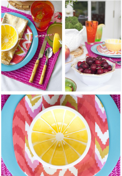Bold and Bright Outdoor Entertaining