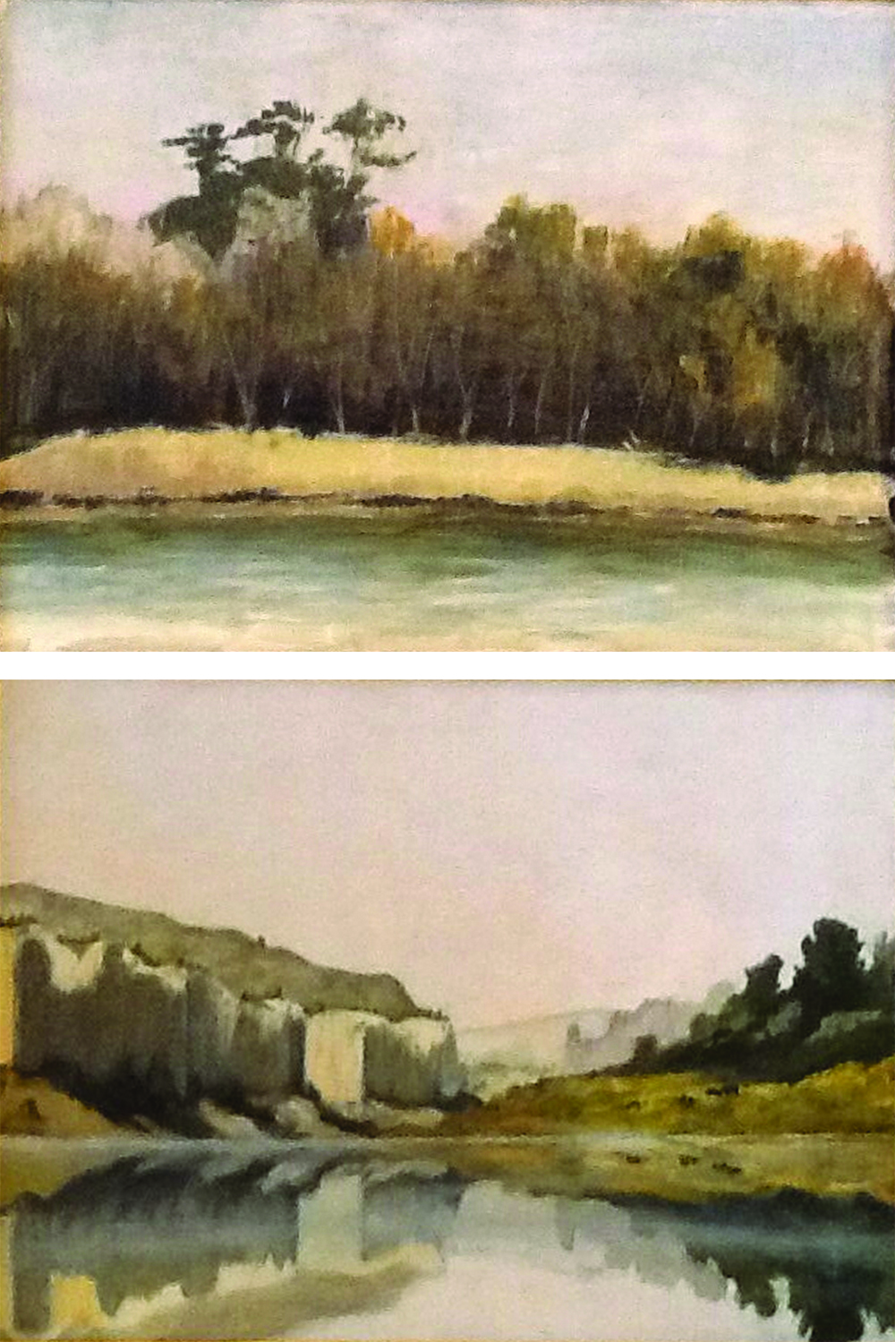 "Wanda Frey, ""Plein aire, South Georgia"" and ""Missouri River"""
