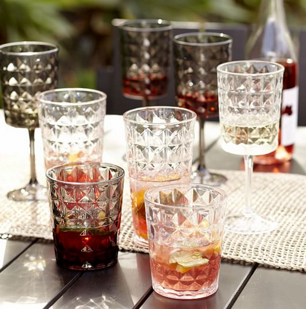 West Elm Quilted Acrylic Drinkware