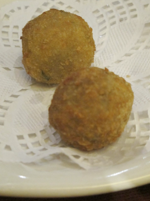 Breaded Fried Olives, Photo by Christina Wedge