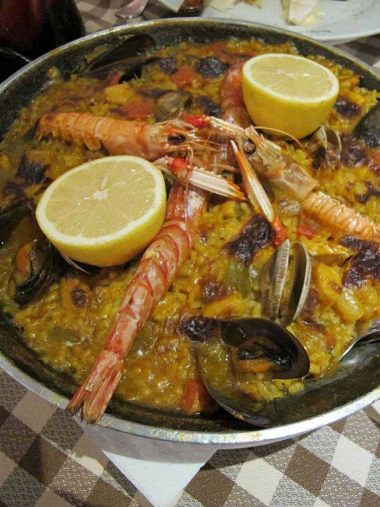 Seafood Paella from El Glop, Photo by Christina Wedge