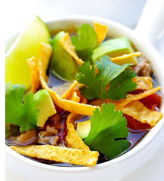 SLOW COOKER  SKINNY  TACO SOUP