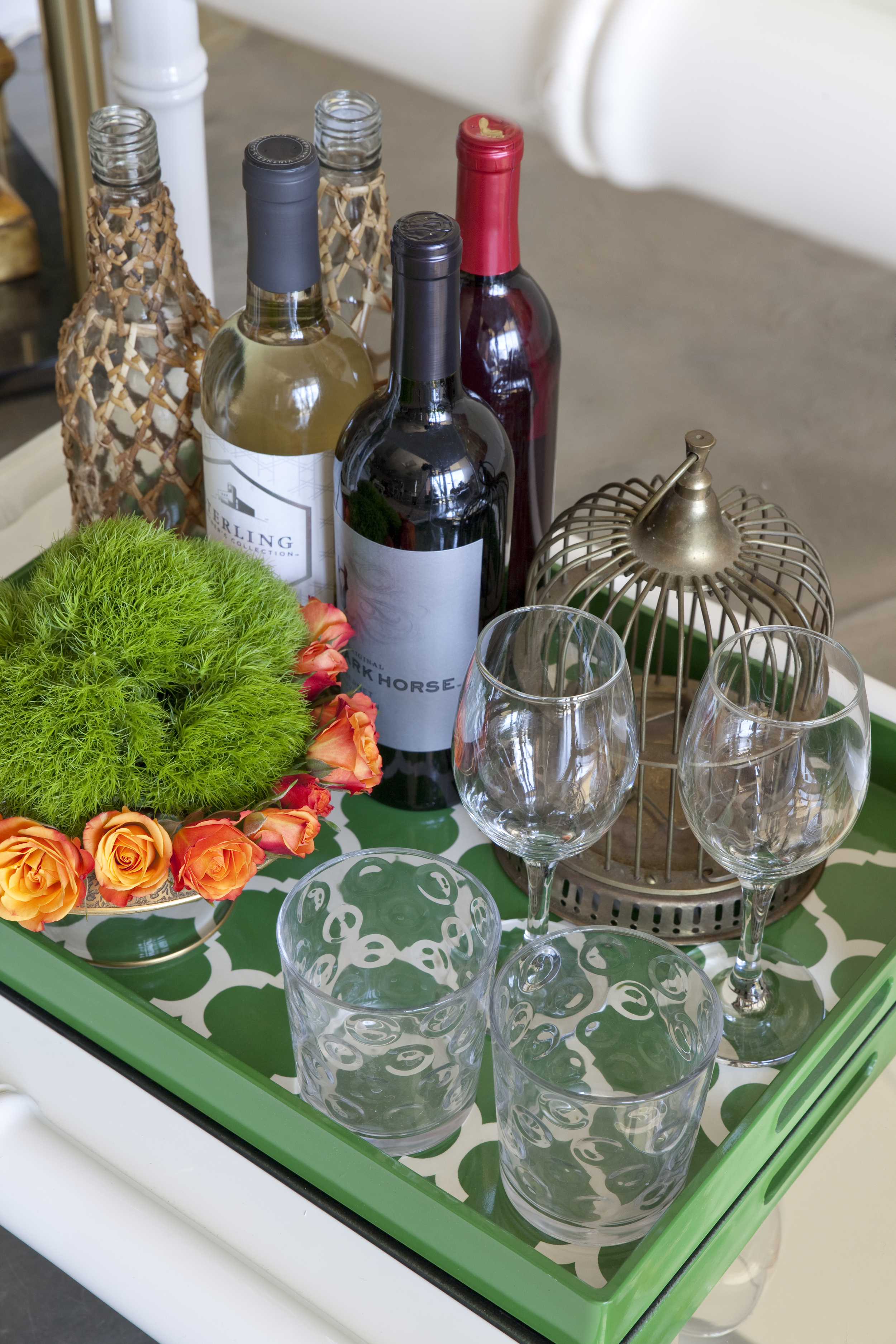Photo by Christina Wedge, Bar Cart Styling by Susie Roupe