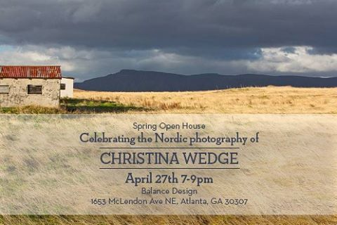Atlantans, join us for a beautiful evening at @balancedesign for @christinawedge's gallery opening! You've seen some of her Nordic photos on Instagram, now come experience the full body of work this Thursday! 📷@christinawedge  Graphics @susiemaedesign  #endsinstyle #iceland #greenland #nordic #photography #photooftheday #design #getoutside #travel #explore #travelphotography #travelaroundtheworld #gallery