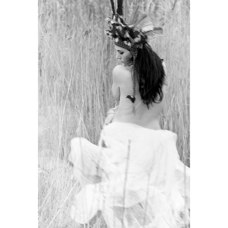 drömmig dans i svartvitt