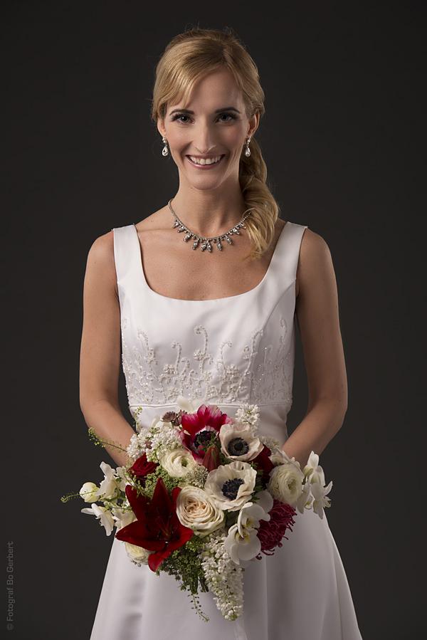 Porträtt på Catherine och den vackra buketten