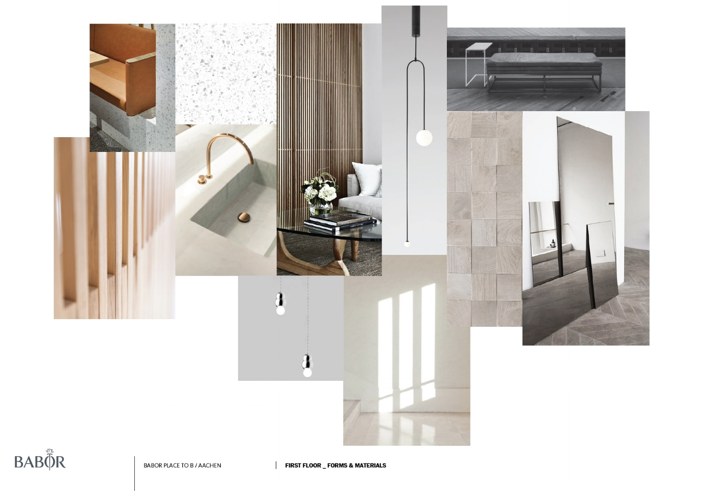 for the first floor treatment vabins / design intentions / materials & forms