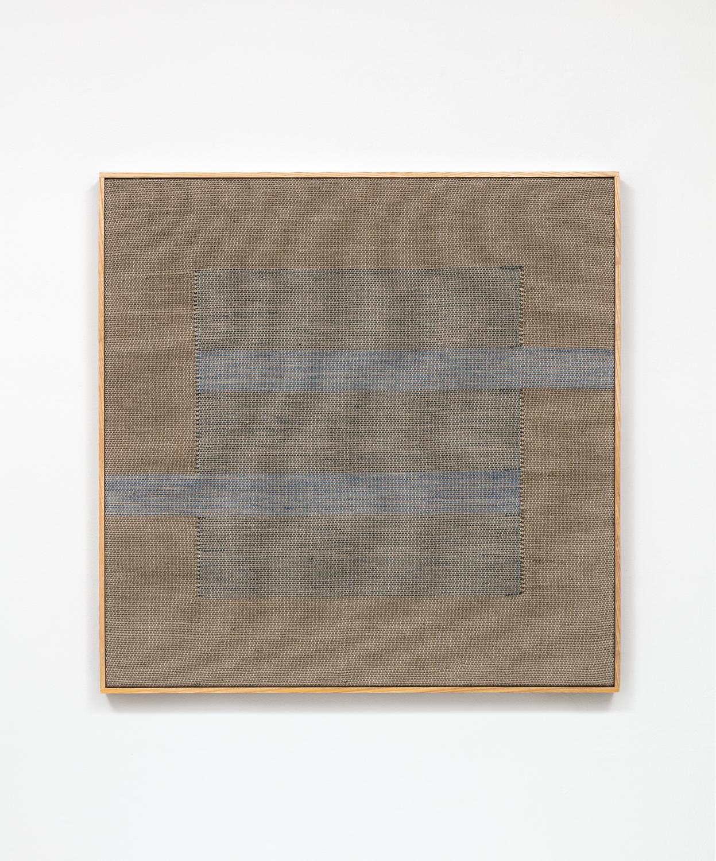Untitled (Moss with Indigo Stripes)