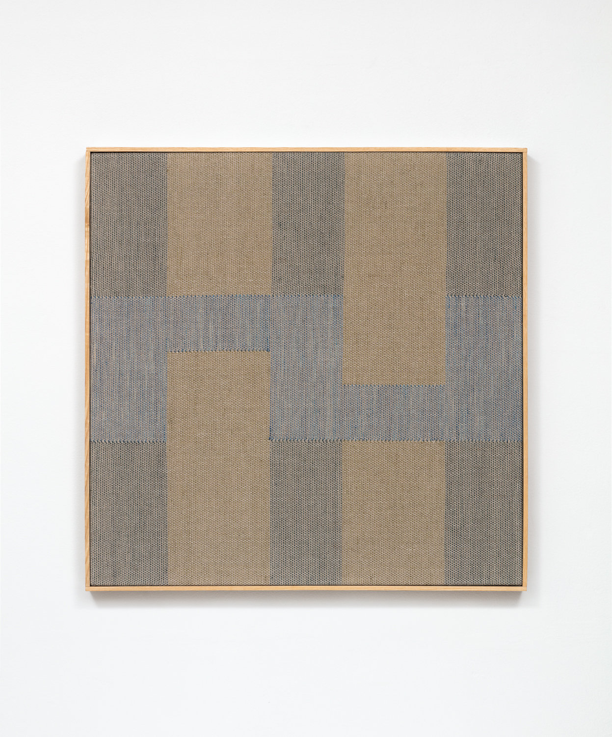 """Untitled (moss and olive)  2019, linen / natural dyes, 24"""" x 24"""""""