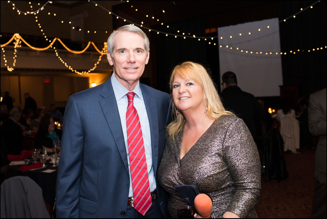 Senator Rob Portman, winner of the Elected Official Award, with Theresa Flores, founder of TraffickFree and S.O.A.P.