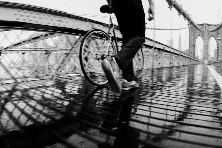Brooklyn Bridge Biker