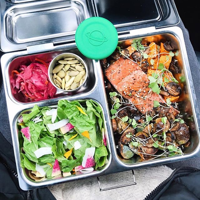 Ruby Red Kraut in a Healthy Lunch Box by Rosie Tran (@kaleintheclouds)