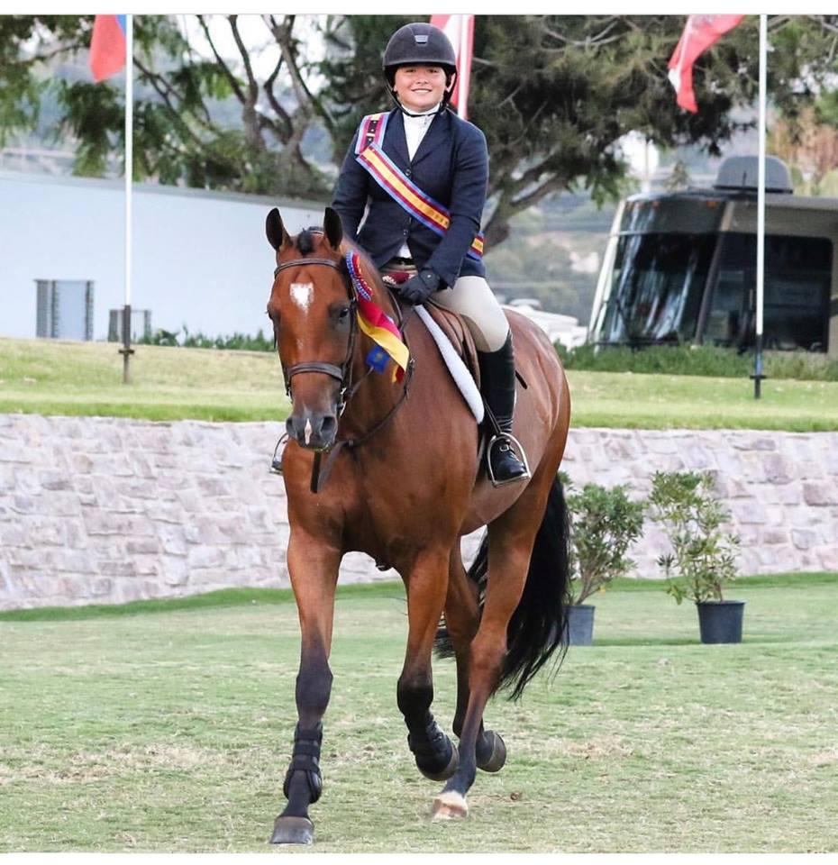 Augusta & Vanderpump during the victory gallop