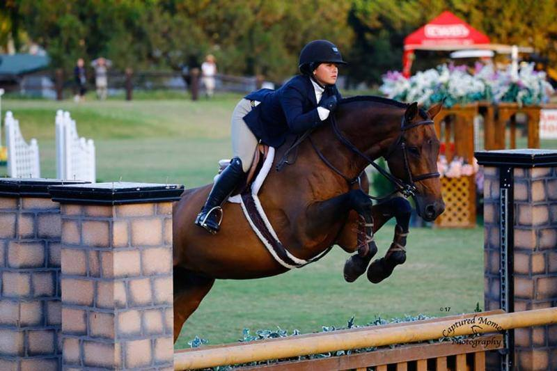 Augusta traded horses and rode Brooke Morin's Boss in the work off