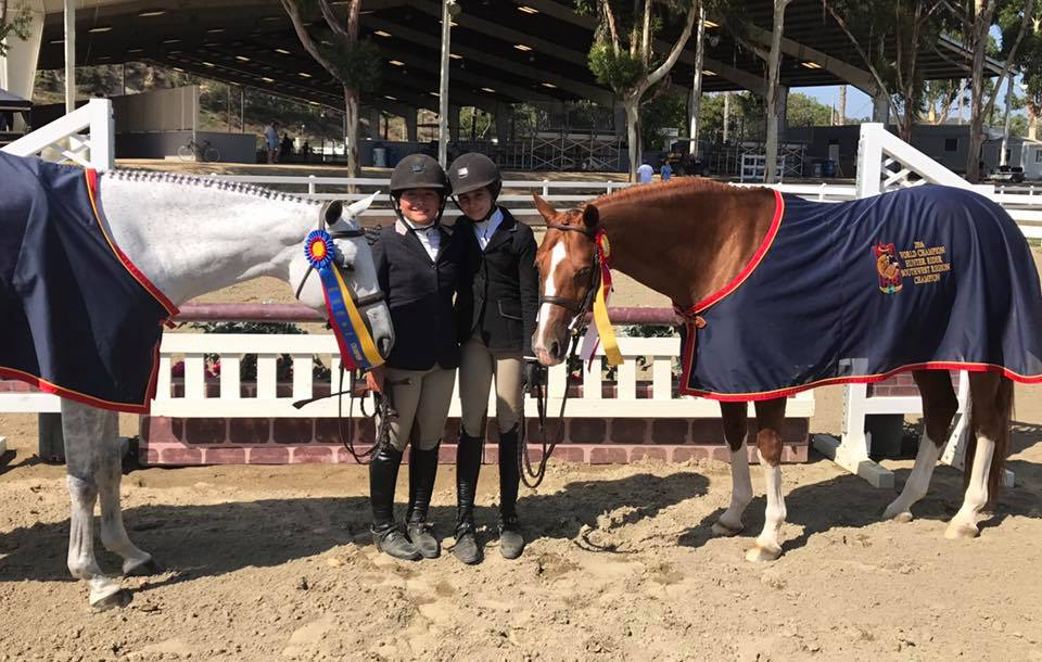 Champion Large Pony Hunter: Augusta Iwasaki & Small Soldier  Reserve Champion Large Pony Hunter: Gabrielle Sokolow & Kingston