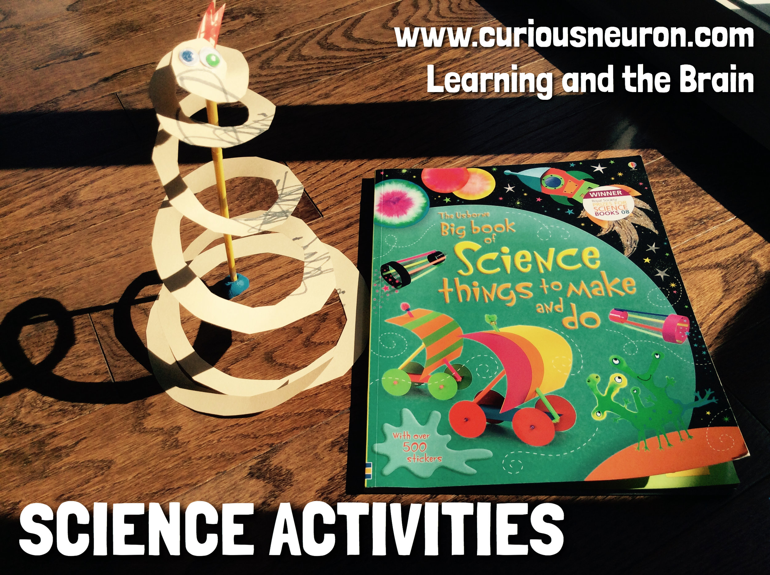 We love our  Big Book of Science Things to Make and Do ! This experiment helped us learn about gravity.