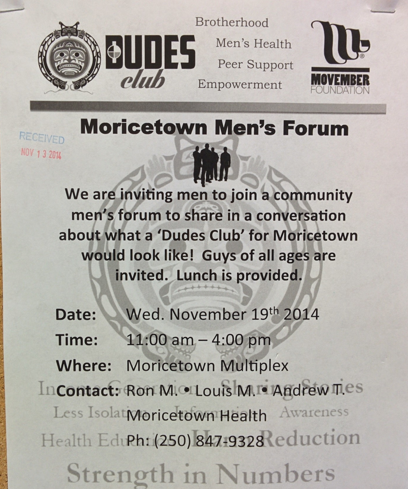 Dudes Poster at Moricetown