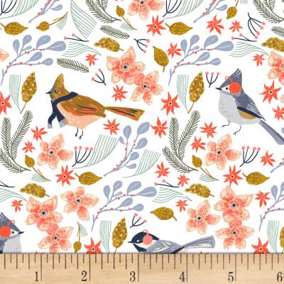 Manufacturer: Dear Stella Collection: Let It Snow Fabric: Bird Wreath White Type: Quilting Cotton Width: 44/45