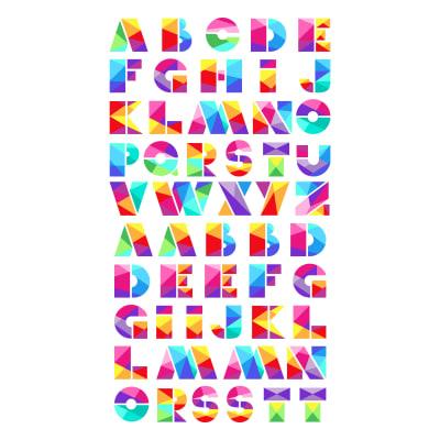 "Manufacturer: Northcott Designer: Deborah Edwards Fabric: Zoometrix Alphabet Panel  Type: Quilting Cotton Dimensions: 24"" x 43"""