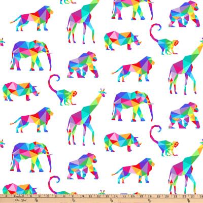 "Manufacturer: Northcott Designer: Deborah Edwards Fabric: Zoometrix Animals Multi Type: Quilting Cotton Dimensions: 44""/45"""