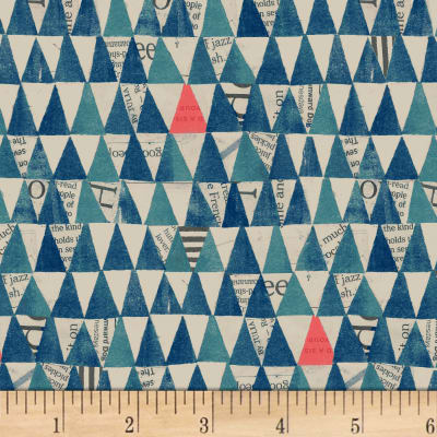 Manufacturer: Windham Designer: Carrie Blomston Collection: Wonder Fabric: Stacked Triangles Navy Type: Quilting Cotton Width: 44/45