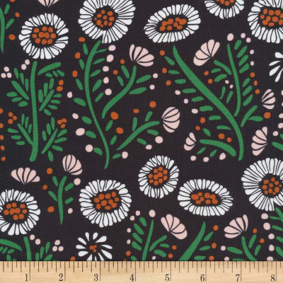 Manufacturer: Cloud 9 Organic Collection: Fanciful  Fabric: Dancing Petals Organic Black Fabric Type: Quilting cotton Width: 44/45