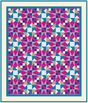 Modern Conservatory Quilt mock-up by Callie Works-Leary