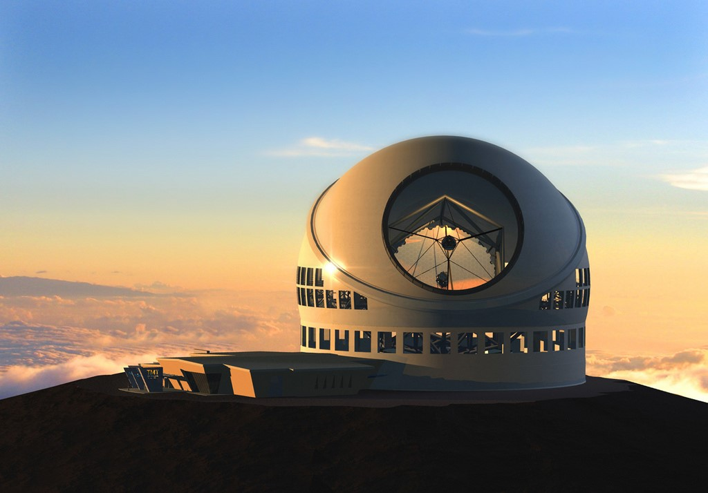 Artist Rendering of Thirty-Meter Telescope            (Courtesy TMT Observatory Corporation)